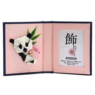 フォトステージ小 パンダ・花(ピンク)